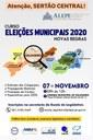 ALEPE realizará em Salgueiro curso ELEIÇÕES MUNICIPAIS - NOVAS REGRAS