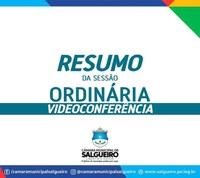 Câmara de Vereadores de Salgueiro realizou mais uma Sessão por videoconferência ( 06/05/2020)