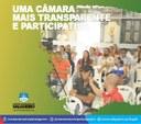 Câmara mais transparente e participativa