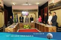 Câmara realiza 10ª sessão ordinária