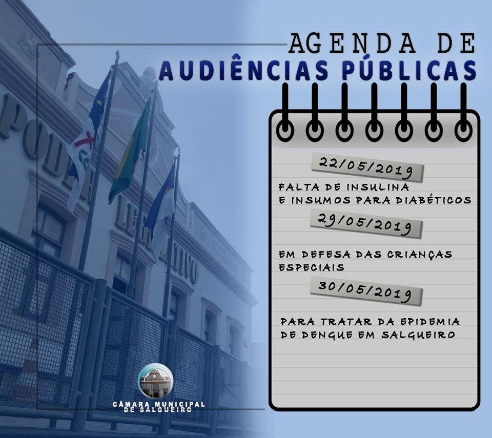 Confira nossa agenda de audiências públicas