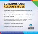 Cuidados com o álcool em gel
