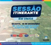 Distrito de Umãs receberá sessão itinerante da Câmara de Salgueiro