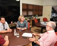 Eliane Alves e Veronaldo Gonçalves se reúnem com o secretário de Desenvolvimento Agrário de Pernambuco Dilson Peixoto