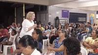 Encontro da Campanha da Fraternidade na Comunidade da Paróquia Santa Cruz foi ministrado pela Vereadora Eliane Alves