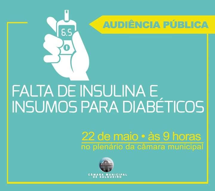 Falta de insulina e insulmos será tema de Audiência Pública