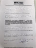 PREVENÇÃO AO CONTATO DO NOVO CORONAVÍRUS - Câmara de Vereadores prorroga decreto por mais 15 dias.