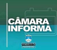 QUARTA-FEIRA (07/08) TEM SESSÃO ORDINÁRIA NA CÂMARA MUNICIPAL DE SALGUEIRO
