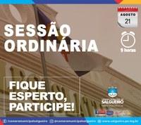 QUARTA- FEIRA é dia de Sessão Ordinária na Câmara Municipal de Salgueiro