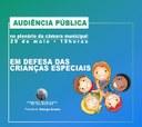 Vereador George Arraes propõe Audiência Pública em defesa das crianças especiais